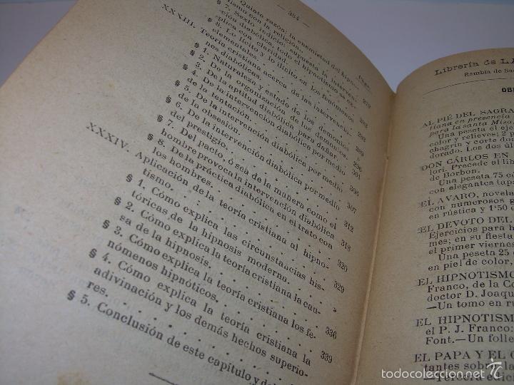Libros antiguos: EL HIPNOTISMO PUESTO EN MODA.....AÑO..1.891 - Foto 11 - 60180015