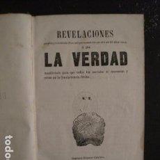 Libros antiguos: REVELACIONES DE LA VERDAD-ABAD ANTON-ESPIRITISMO-IMPRENTA HISPANO CATALANA AÑO 1866 -(V-6705) . Lote 62612244
