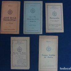 Libros antiguos: RARÍSIMOS FOLLETOS. 1-5 SOCIEDAD TEOSÓFICA ESPAÑOLA. BESANT, ROGERS...FINALES AÑOS 20?. Lote 76019019