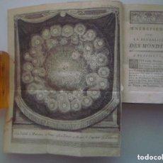 Libros antiguos: RARA EDICIÓN DEL S.XVIII DE ENTRETIENS SUR LA PLURALITÉ DES MONDES.FONTENELLE.1766. Lote 87564024