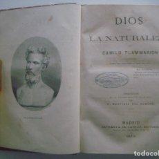 Alte Bücher - FLAMMARION. DIOS EN LA NATURALEZA. 1878. PRIMERA EDICION. - 90757415
