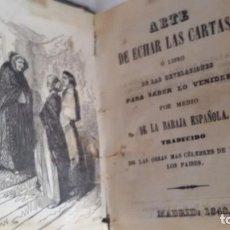 Libros antiguos: ARTE DE ECHAR LAS CARTAS O LIBRO DE LAS REVELACIONES MADRID 1848. IMPRENTA DE M.R. Y FONSECA. Lote 90902240