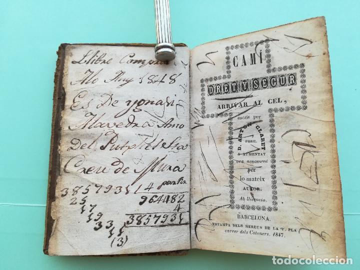 Libros antiguos: ANTIGUO LIBRO SIGLO XIX,AÑO 1847,CAMINO DEL CIELO,IMAGENES TERRORIFICAS DEL INFIERNO,CATALAN ANTIGUO - Foto 6 - 93121295