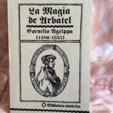 Libros antiguos: LA MAGIA DE URBATEL BIBLIOTECA ESOTERICA. Lote 100998979