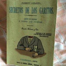 Libros antiguos: SECRETOS DE LOS GARITOS MAXTOR. Lote 100999487