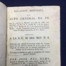 Libros antiguos: INQUISICIÓN. AUTO GENERAL DE FE. 1680 (REIMPRESIÓN 1820). Lote 106941535