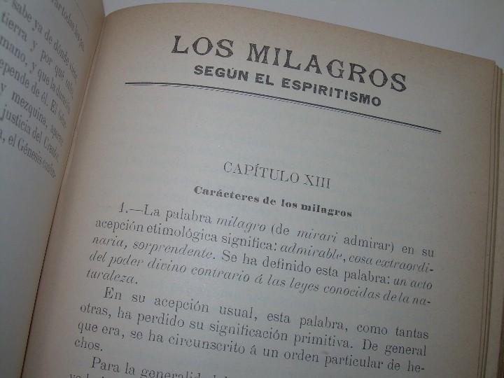 Libros antiguos: EL GENESIS DE LOS MILAGROS Y LAS PREDICCIONES SEGUN EL ESPIRITISMO..AÑO 1904....ALLAN KARDEC - Foto 9 - 107256987