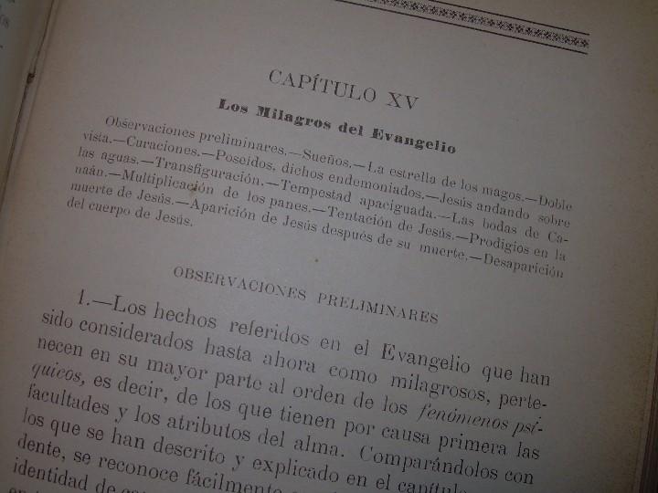 Libros antiguos: EL GENESIS DE LOS MILAGROS Y LAS PREDICCIONES SEGUN EL ESPIRITISMO..AÑO 1904....ALLAN KARDEC - Foto 10 - 107256987