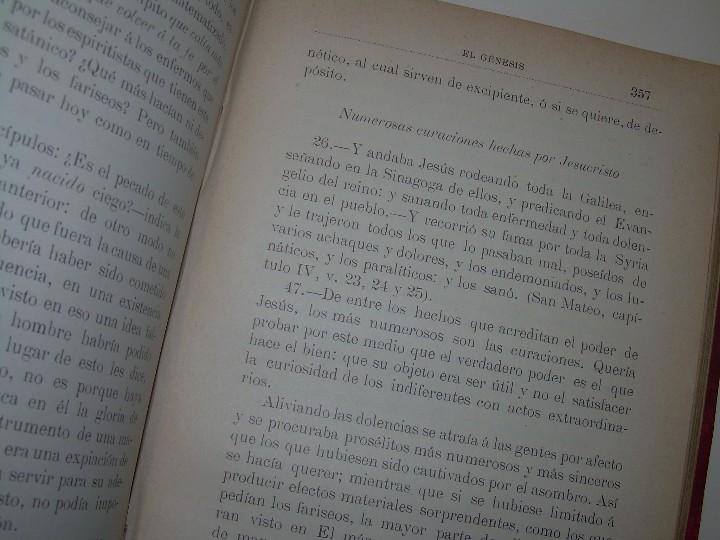 Libros antiguos: EL GENESIS DE LOS MILAGROS Y LAS PREDICCIONES SEGUN EL ESPIRITISMO..AÑO 1904....ALLAN KARDEC - Foto 12 - 107256987