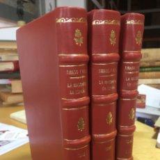 Libros antiguos: 1892. LA MASONERIA EN ESPAÑA. ENSAYO HISTORICO. MARIANO TIRADO Y ROJAS. RARISIMA OBRA. 3 TOMOS. COMP. Lote 93700280