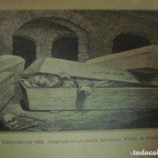 Libros antiguos: RARÍSIMO LIBRO ¡DESPERTAR EN LA TUMBA! ESTUDIO HISTORICO-CIENTIFICO.DR.HUBER.1915. Lote 110351507