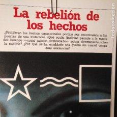 Libros antiguos: CIENCIAS OCULTAS OCULTISMO - REPORTAJE COMPLETO. LA REBELION DE LOS HECHOS. Lote 111864575