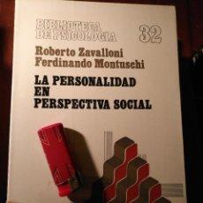 Libros antiguos: LIBRO - PSICOLOGIA LA PERSONALIDAD EN PERSPECTIVA SOCIAL . HERDER . Lote 111914443