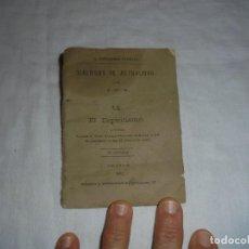 Libros antiguos: EL ESPIRITISMO.J.M.M.DIALOGOS DE ACTUALIDAD Nº 14 .LA PROPAGANDA CATOLICA PALENCIA 1882. Lote 112643003