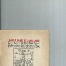Libros antiguos: JORIS KARL HUYSMANS. DOM BESSE 1917. Lote 113616043
