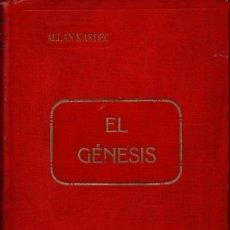 Libros antiguos: ALLAN KARDEC : EL GÉNESIS - LOS MILAGROS Y LAS PREDICCIONES SEGÚN EL ESPIRITISMO (CARBONELL, 1904). Lote 113935059