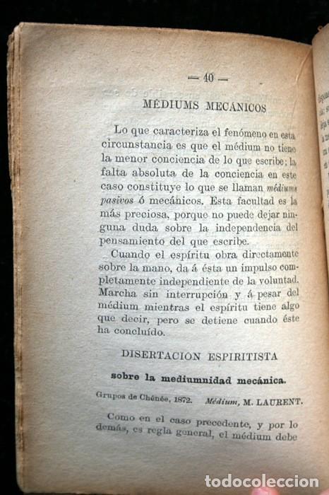 Libros antiguos: GUIA PRACTICA DEL MEDIUM CURANDERO - Sociedad Espiritista Anónima Barcelonesa - Foto 3 - 114859695