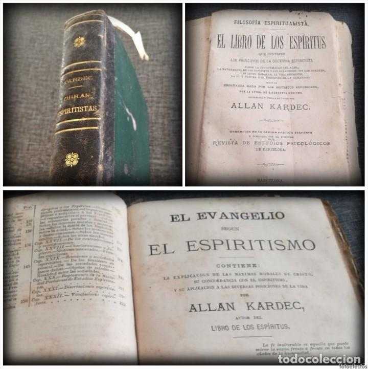 KARDEC (1879-1880): EL LIBRO DE LOS ESPÍRITUS, LIBRO DE LOS MÉDIUMS, EVANGELIO SEGÚN EL ESPIRITISMO (Libros Antiguos, Raros y Curiosos - Parapsicología y Esoterismo)