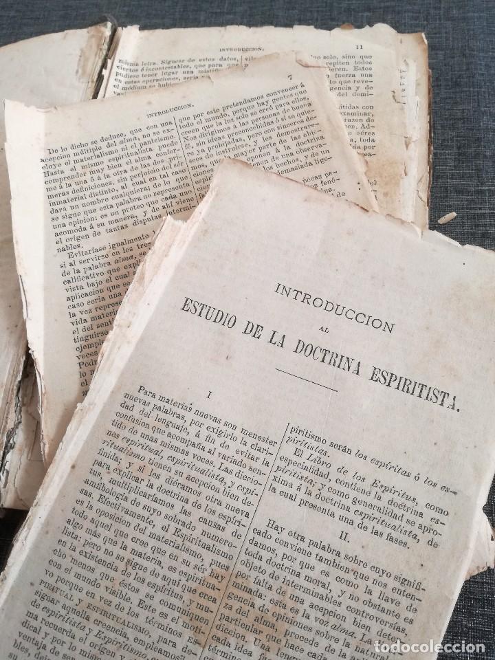 Libros antiguos: KARDEC (1879-1880): EL LIBRO DE LOS ESPÍRITUS, LIBRO DE LOS MÉDIUMS, EVANGELIO SEGÚN EL ESPIRITISMO - Foto 4 - 115396827