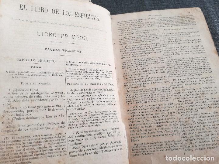 Libros antiguos: KARDEC (1879-1880): EL LIBRO DE LOS ESPÍRITUS, LIBRO DE LOS MÉDIUMS, EVANGELIO SEGÚN EL ESPIRITISMO - Foto 7 - 115396827