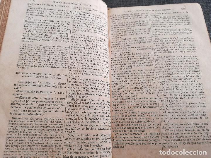 Libros antiguos: KARDEC (1879-1880): EL LIBRO DE LOS ESPÍRITUS, LIBRO DE LOS MÉDIUMS, EVANGELIO SEGÚN EL ESPIRITISMO - Foto 10 - 115396827