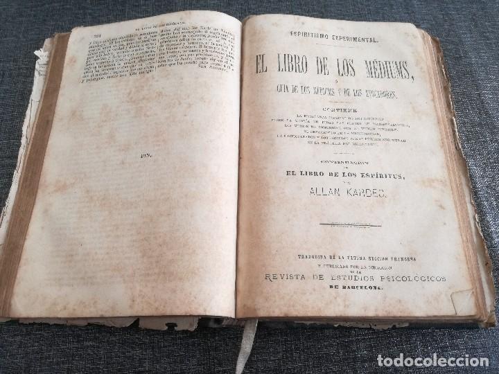 Libros antiguos: KARDEC (1879-1880): EL LIBRO DE LOS ESPÍRITUS, LIBRO DE LOS MÉDIUMS, EVANGELIO SEGÚN EL ESPIRITISMO - Foto 11 - 115396827