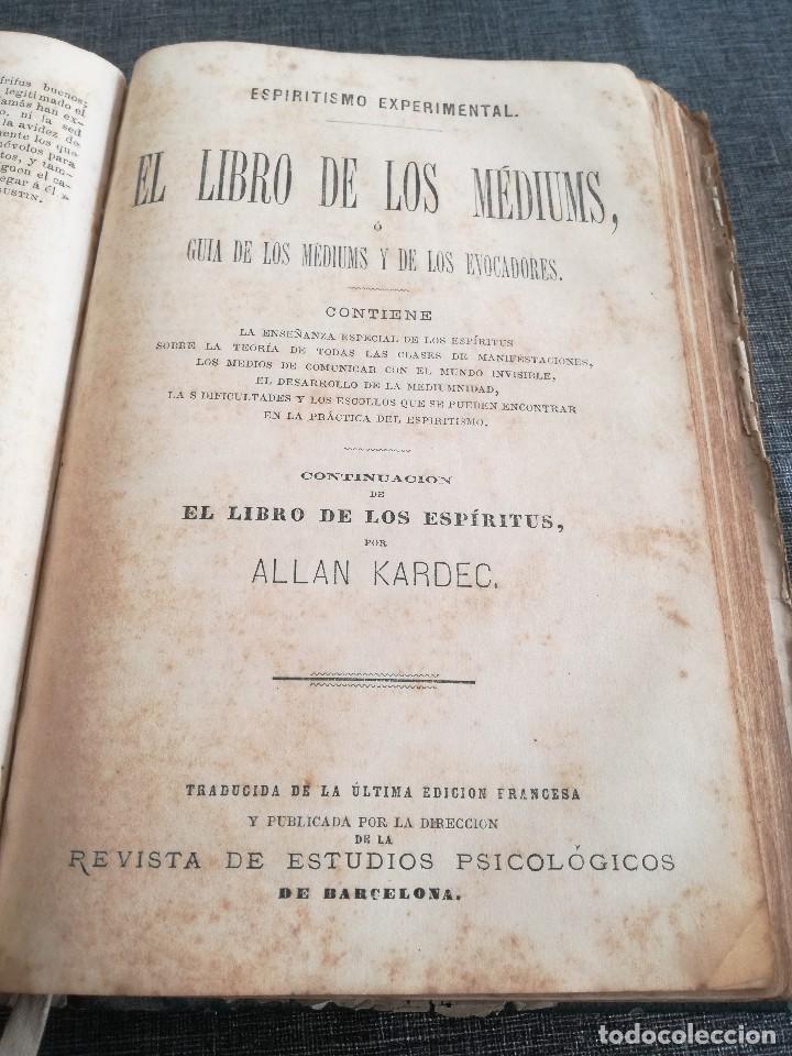 Libros antiguos: KARDEC (1879-1880): EL LIBRO DE LOS ESPÍRITUS, LIBRO DE LOS MÉDIUMS, EVANGELIO SEGÚN EL ESPIRITISMO - Foto 12 - 115396827