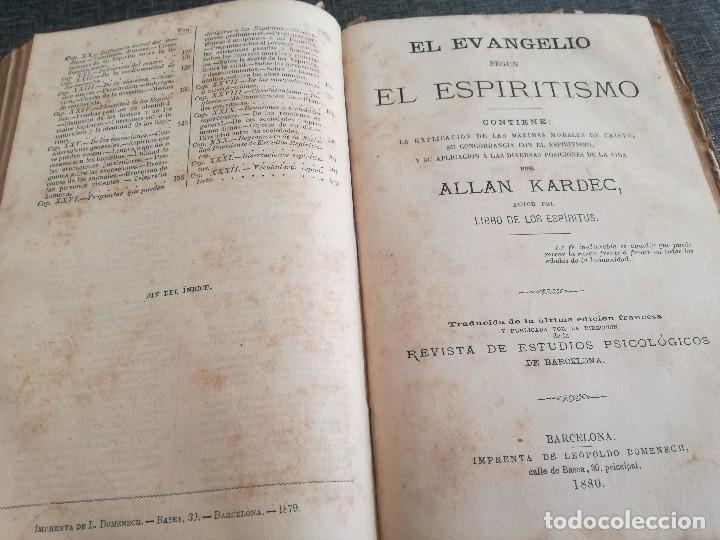 Libros antiguos: KARDEC (1879-1880): EL LIBRO DE LOS ESPÍRITUS, LIBRO DE LOS MÉDIUMS, EVANGELIO SEGÚN EL ESPIRITISMO - Foto 16 - 115396827