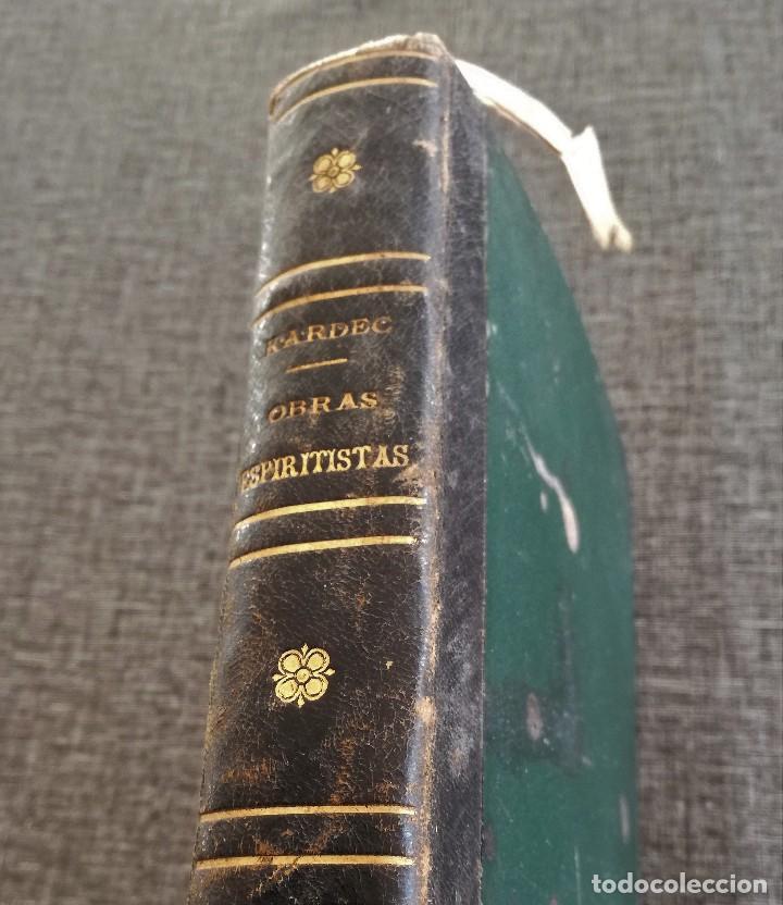 Libros antiguos: KARDEC (1879-1880): EL LIBRO DE LOS ESPÍRITUS, LIBRO DE LOS MÉDIUMS, EVANGELIO SEGÚN EL ESPIRITISMO - Foto 25 - 115396827