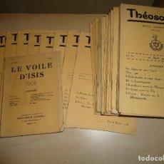 Libros antiguos: THEOSOPHIE TEOSOFÍA - H. P. BLAVATSKY Y OTROS 1933-37 42 VOLUMENES. Lote 116276191