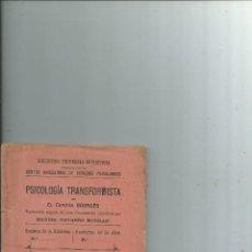 Alte Bücher - Psicología Transformista por el Capitán Bourgés. 1892 - ESPIRITISMO OCULTISMO PARAPSICOLOGÍA - 116452827