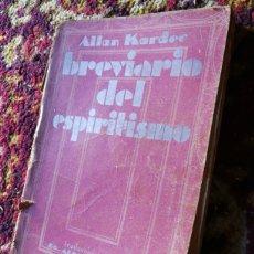 Libros antiguos: BREVIARIO DEL ESPIRITISMO- ALLAN KARDEC, EDICIONES JASON (BARCELONA), 1931.. Lote 117733431