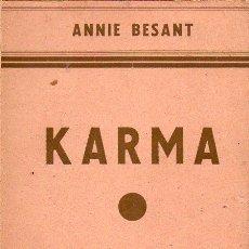 Alte Bücher - ANNIE BESANT : KARMA (ORIENTALISTA, 1930) - 121891695