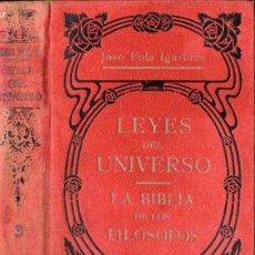Libros antiguos: JOSÉ FOLA IGURBIDE : LEYES DEL UNIVERSO - LA BIBLIA DE LOS FILÓSOFOS TOMO 3 (MAUCCI, S.F.). Lote 121894207