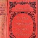 Libros antiguos: JOSÉ FOLA IGURBIDE : LEYES DEL UNIVERSO - LA BIBLIA DE LOS FILÓSOFOS TOMO 1 (MAUCCI, S.F.). Lote 121894299