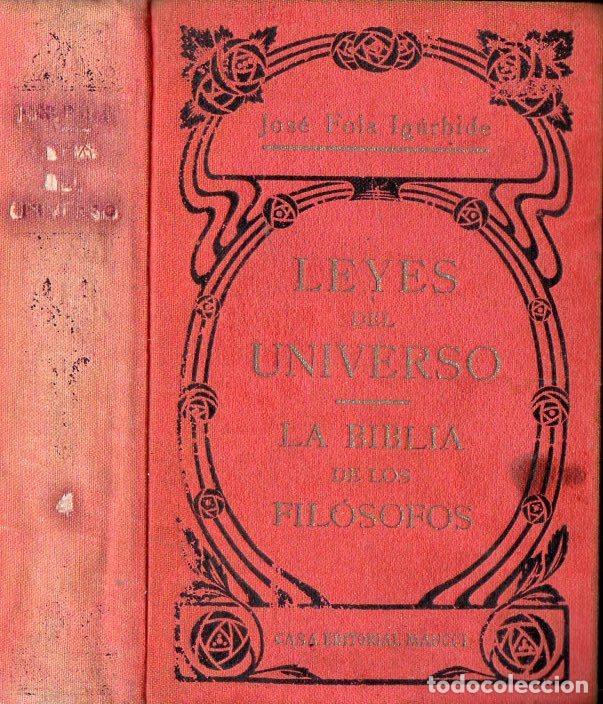 JOSÉ FOLA IGURBIDE : LEYES DEL UNIVERSO - LA BIBLIA DE LOS FILÓSOFOS TOMO 4 (MAUCCI, S.F.) (Libros Antiguos, Raros y Curiosos - Parapsicología y Esoterismo)