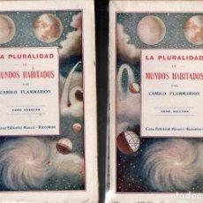 Libros antiguos: FLAMMARION : LA PLURALIDAD DE LOS MUNDOS HABITADOS - DOS TOMOS (MAUCCI, C. 1920). Lote 124903367