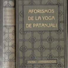 Alte Bücher - SWAMI VIVEKANANDA : AFORISMOS DE LA YOGA DE PATANJALI (ANTONIO ROCH, c. 1930) - 125305819