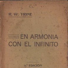 Libros antiguos: TRINE : EN ARMONÍA CON EL INFINITO (PARERA, 1913). Lote 125727783