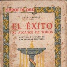 Libros antiguos: SWINGLE : EL ÉXITO AL ALCANCE DE TODOS (OSSÓ, S.F.). Lote 125733395