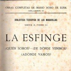 Libros antiguos: ROSO DE LUNA : LA ESFINGE (PUEYO, 1924). Lote 125832495