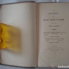 Libros antiguos: SWEDENBORG. THE DOCTRINE OF NEW JERUSALEM.1812. 1A EDICIÓN. ESPIRITISMO Y CÁBALA. Lote 128418943