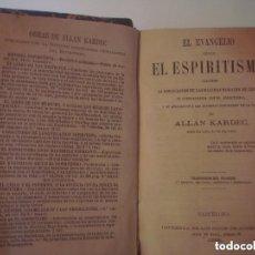 Libros antiguos: LIBRERIA GHOTICA. RARISIMA PRIMERA EDICION DE DOS OBRAS DE ESPIRITISMO. 1869. ALAN KARDEC. Lote 128495027