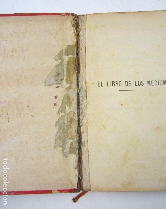 Libros antiguos: El libro de los mediums, Allan Kardec, 1904, Carbonell y Esteva, Barcelona. 16,5x22cm - Foto 2 - 128525975