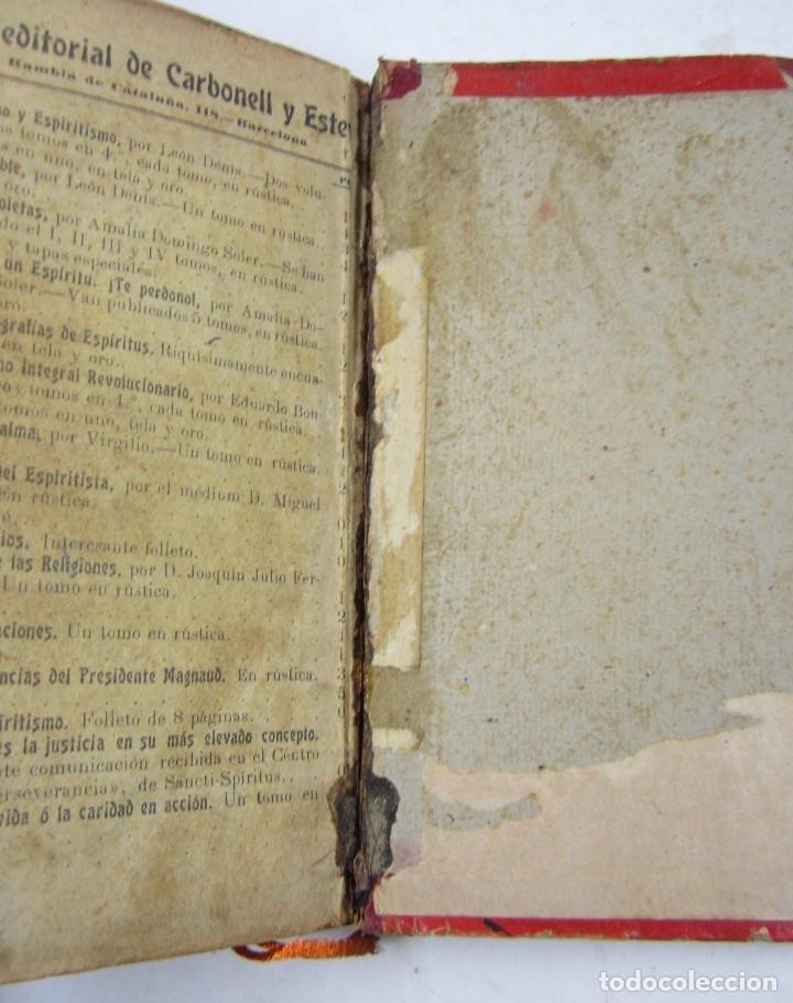 Libros antiguos: El libro de los mediums, Allan Kardec, 1904, Carbonell y Esteva, Barcelona. 16,5x22cm - Foto 5 - 128525975