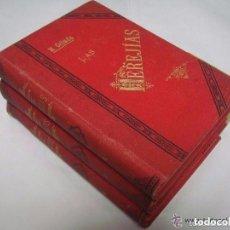 Libros antiguos: M. CEBADA. LAS HEREJIAS. 1892. 3 TOMOS DE 4. FOLIO. SECTAS SECRETAS. MUY RAROS.. Lote 128679403