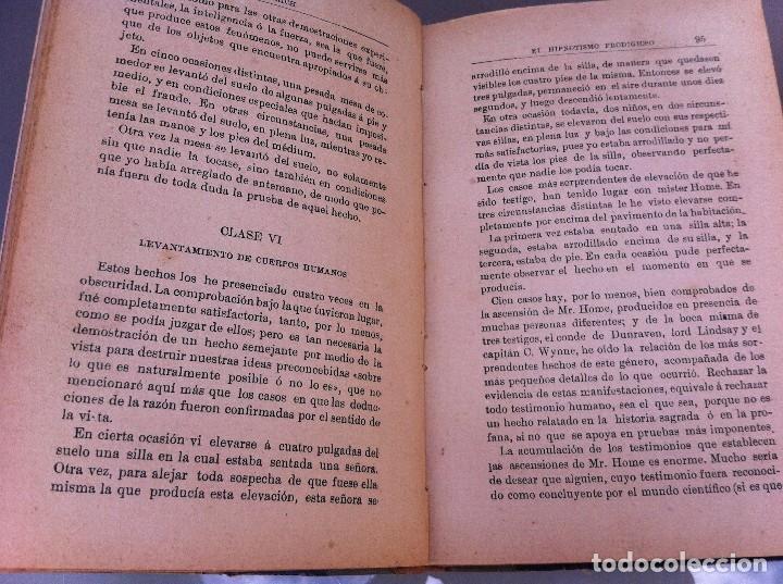 Libros antiguos: AYMERICH. EL HIPNOTISMO PRODIGIOSO (2 TOMOS) 1911, LIBRERÍA DE PUEYO, MADRID. OBRAS TEOSÓFICAS. - Foto 4 - 128847363