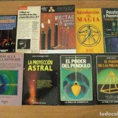 Libros antiguos: 9 LIBROS RADIESTESIA-PSICOFONIAS-PENDULO-PIRAMIDES-PROYECCION ASTRAL-MAGIA--ETC. Lote 129078207