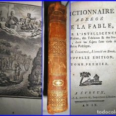 Libros antiguos: DICCIONARIO DE LA FABLE: FÁBULAS, MITOLOGÍA, ESOTERISMO, CÍCLOPES,...AÑO 9 DE LA ERA NAPOLEÓNICA.. Lote 131121904