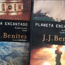 Libros antiguos: J.J BENITEZ PLANETA ENCANTADO.ANILLO DE PLATA.TASSILI.HUELLA DE LOS DIOSES.ISLA DEL FIN DEL MUNDO. Lote 131554922